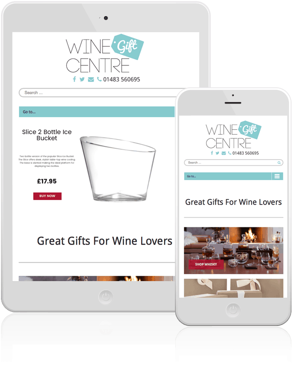 Wine Gift Centre Mobile Responsive Web Design