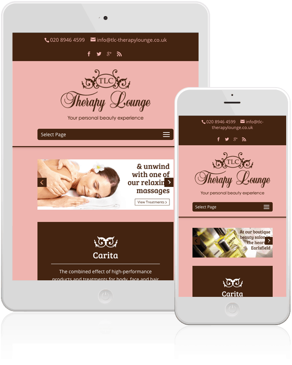 TLC Therapy Lounge Mobile Responsive E-commerce Web Design