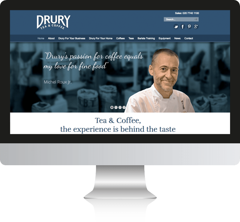 Drury Tea & Coffee Website Design
