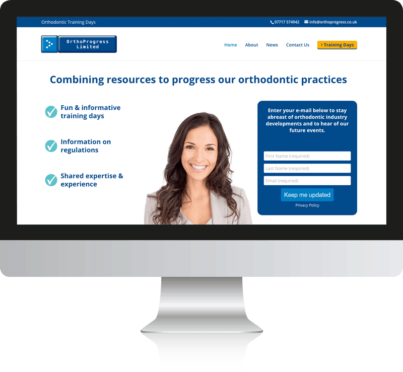 Event Website Design For Orthoprogress Ltd
