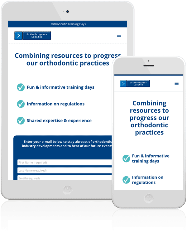 Orthoprogress Mobile Web Design