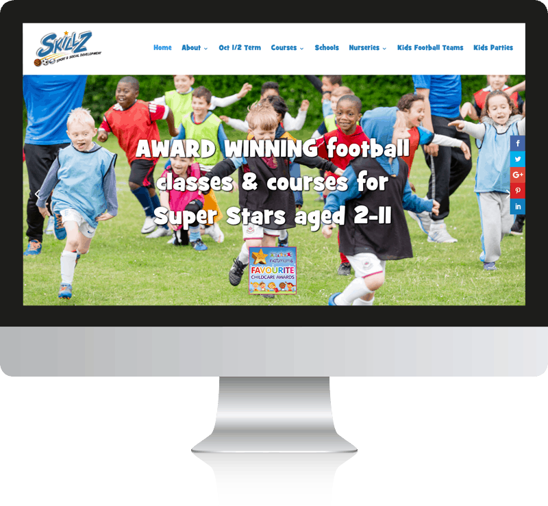 Sports Website Design For Skillz Ltd