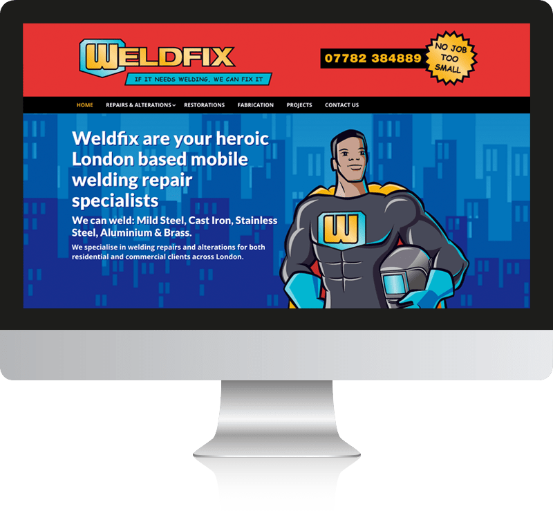 Welder Web Design for Weldfix Ltd