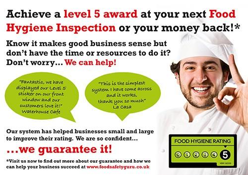 Food Safety Guru Marketing Postcard
