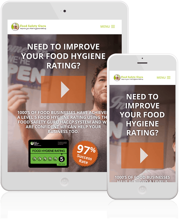 Food Safety Guru Responsive Web Design