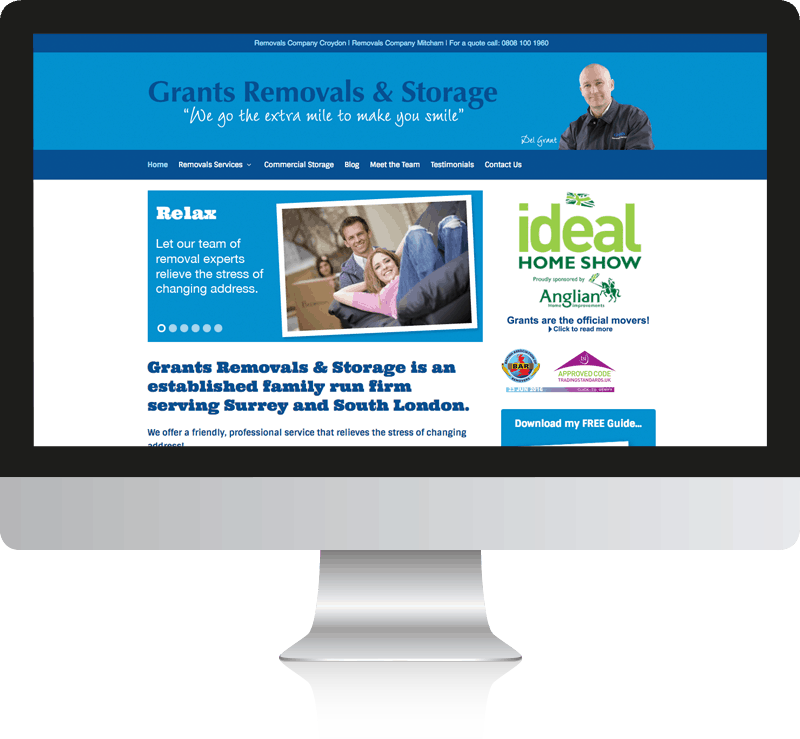 Removal Company Web Design Grants Removals & Storage Ltd