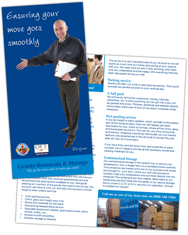 Grants Removals Leaflet Design