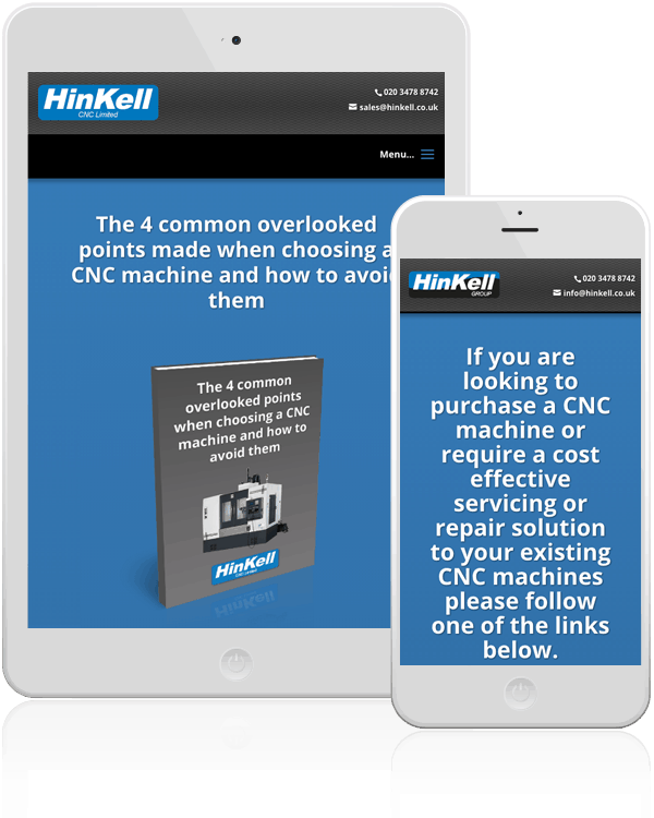 Hinkell CNC Machines Responsive Web Design