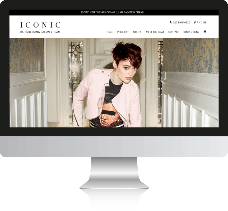Hairdresser Web Design Iconic Hair Salon