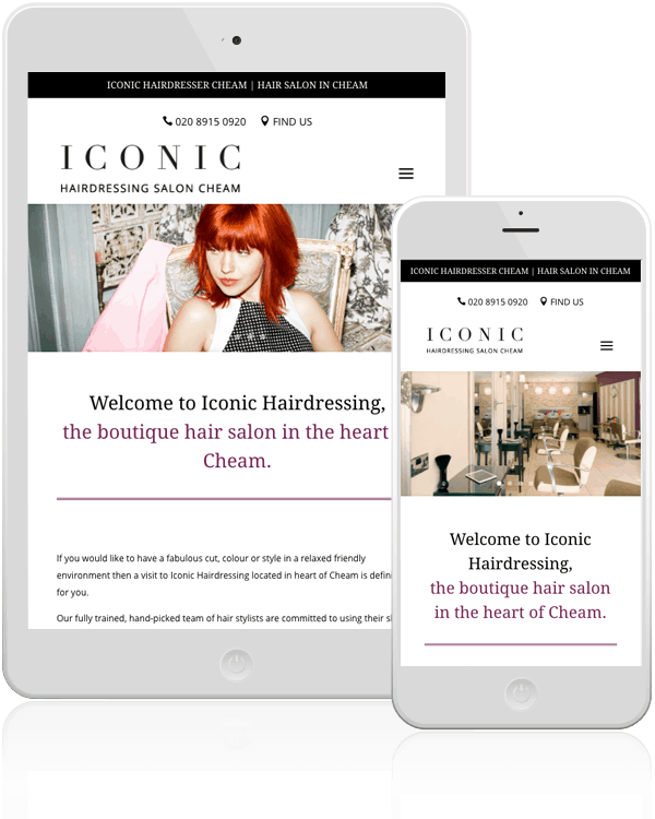 Iconic Hairdressers Web Design