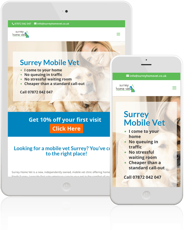 Surrey Home Vet Responsive Web Design