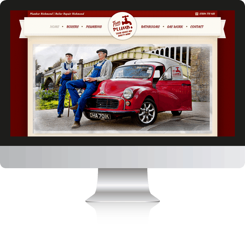 Plumber Web Design For Tom Plumb