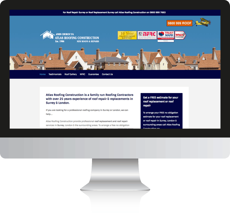Atlas Roofing Web Design
