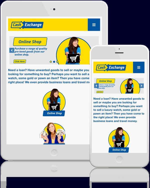 Cash Exchange Responsive Website Design