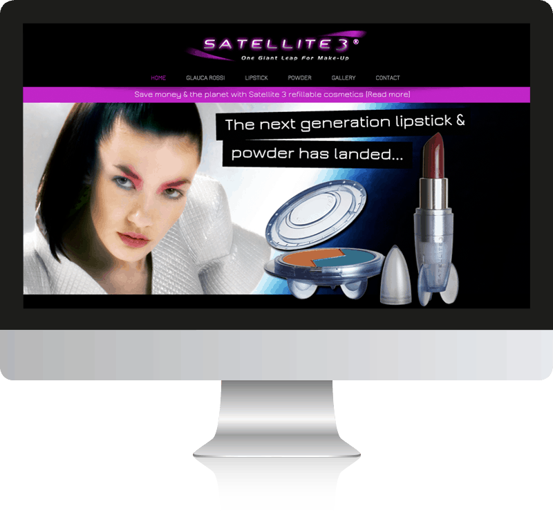 Makeup Web Design For Satellite 3