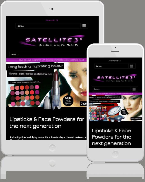 Makeup Web Design For Satellite 3
