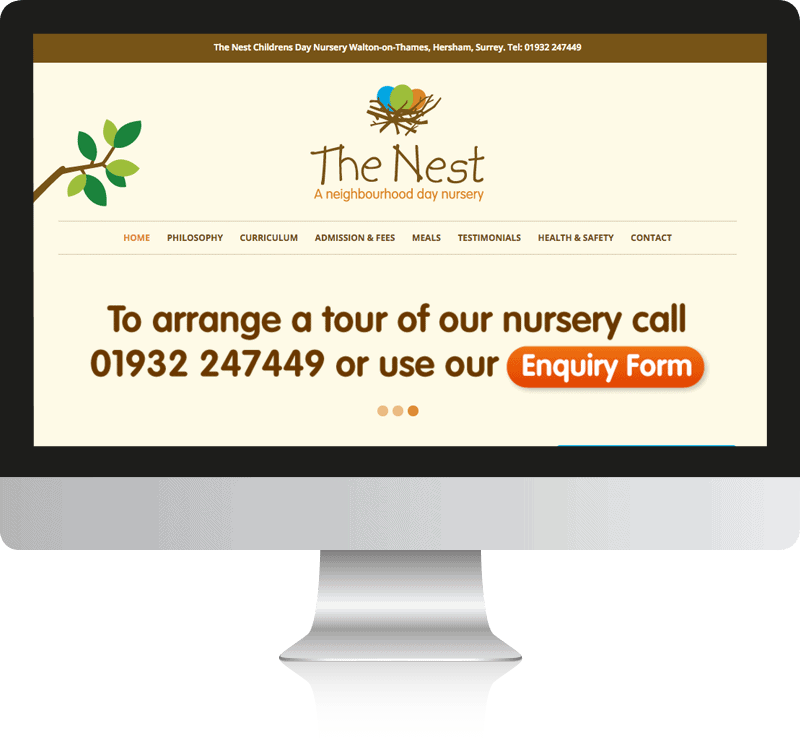 Nursery School Web Design For The Nest Nursery School