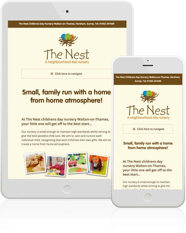 The Nest Nursery School Responsive Web Design