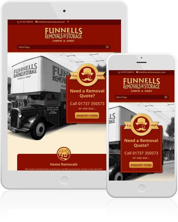 Funnells Removals Company Responsive Web Design