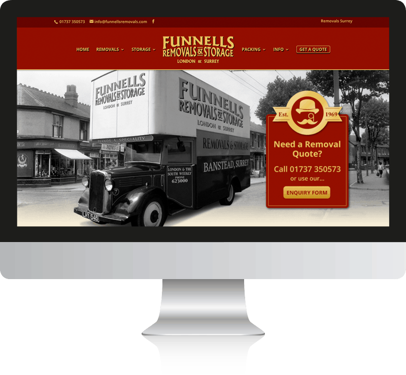 Funnells Removal Company Website Design