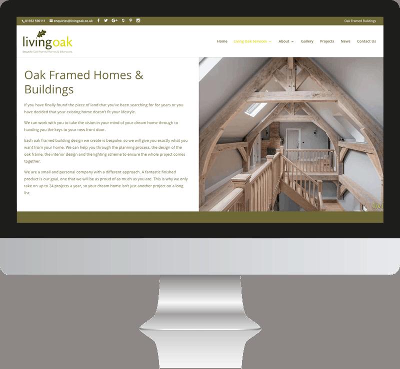 Living Oak Framed Web design