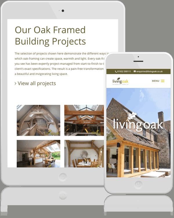 Living Oak Framed Responsive Web design