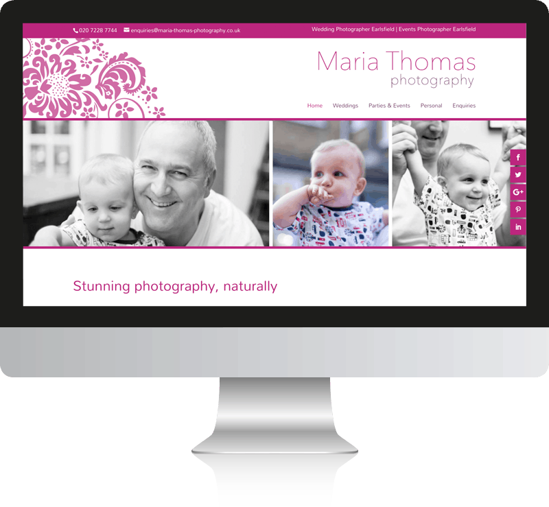 Maria Thomas Photography Web Design