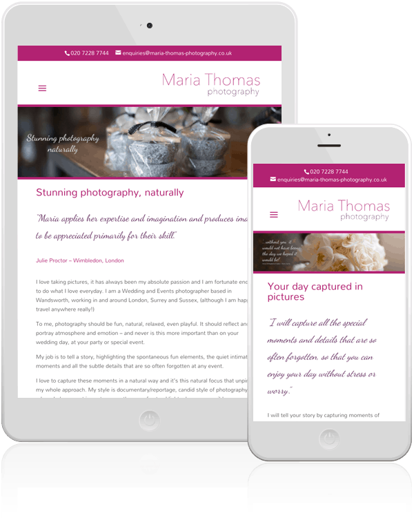 Maria Thomas Photography Responsive Web Design