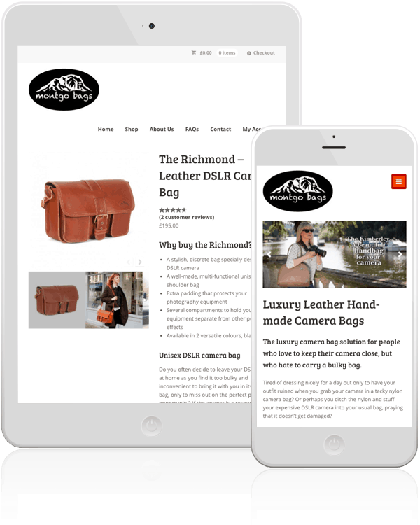 Montgo Bags WordPress Web Design