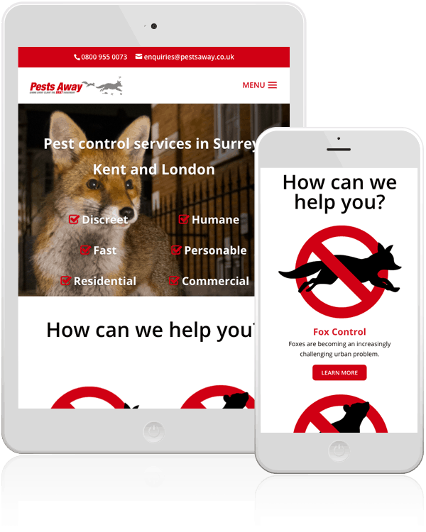 Pest Control Responsive Web Design