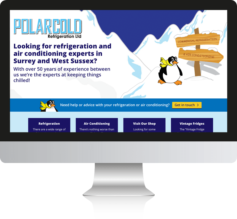 Polarcold Refrigeration E-commerce Web Design