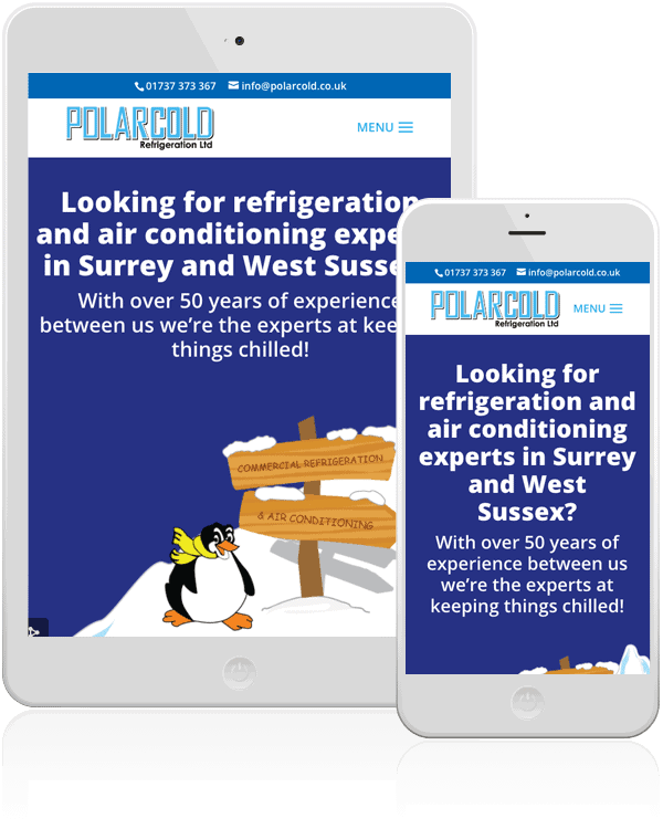 Polarcold Refrigeration WooCommerce Web Design