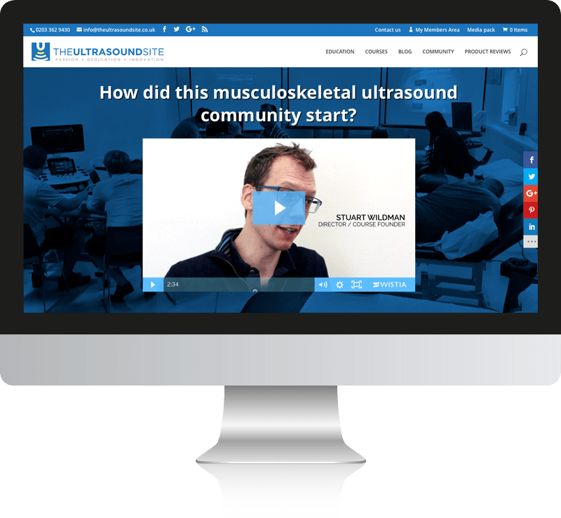 The Ultrasound Site WordPress Web Design