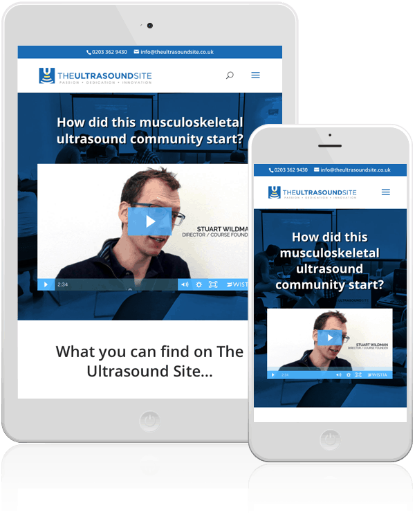 The Ultrasound Site WordPress Mobile Responsive Web Design