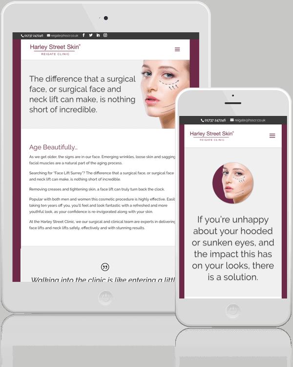 Harley Street Skin Clinic Responsive Web Design