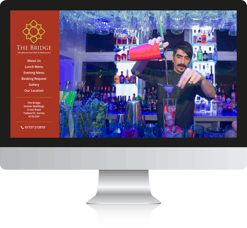 The Bridge Grill WordPress Web Design