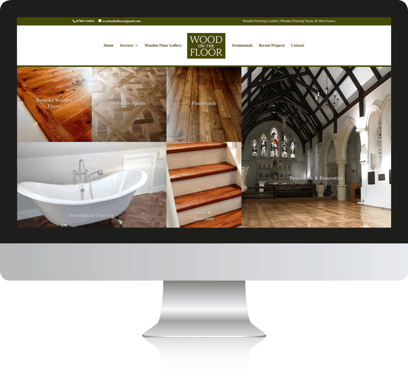 Wood on the Floor Website Design Kingston
