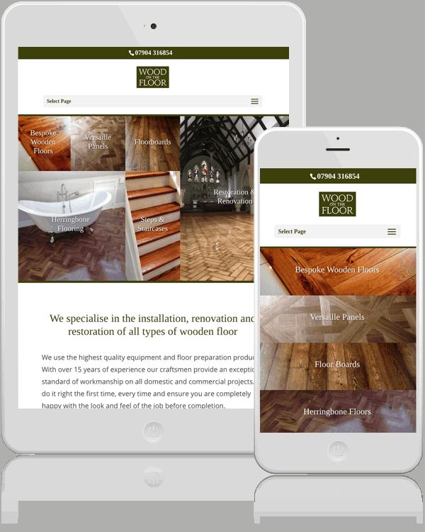 Wood on the Floor Web Design