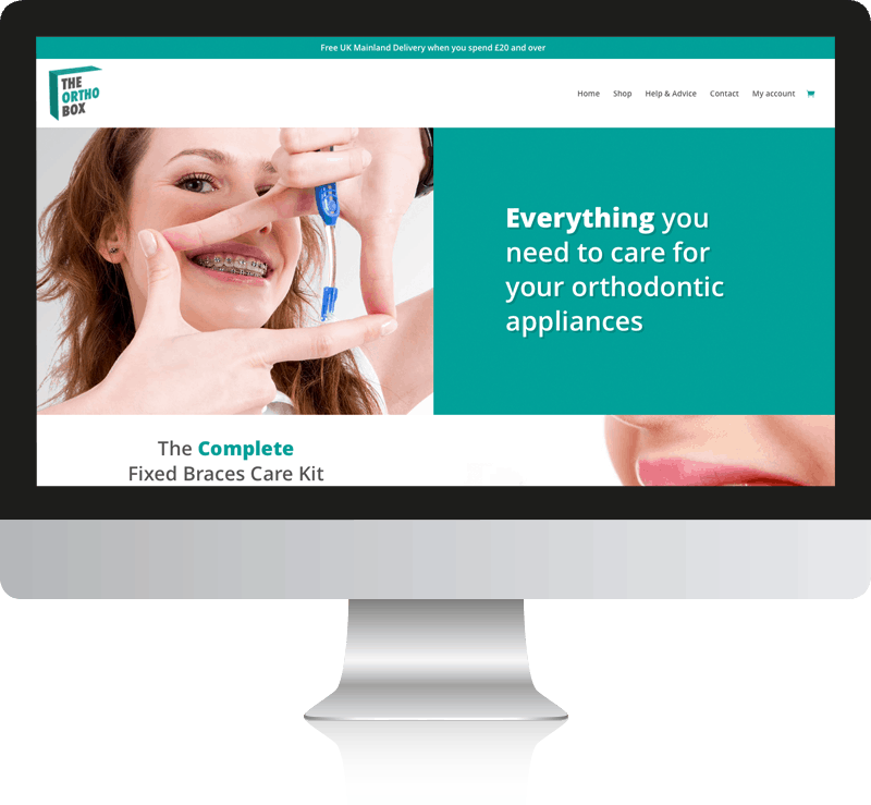 The Ortho Box WooCommerce Website Design