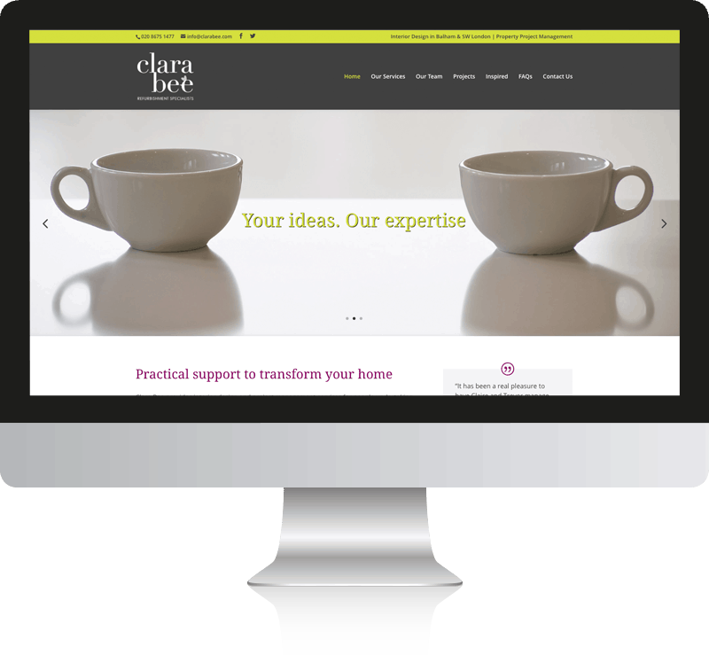Woking Clara Bee Web Design