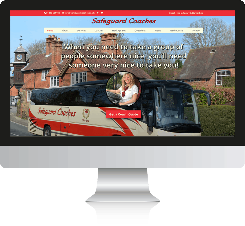 Guildford Buses WordPress Web Design