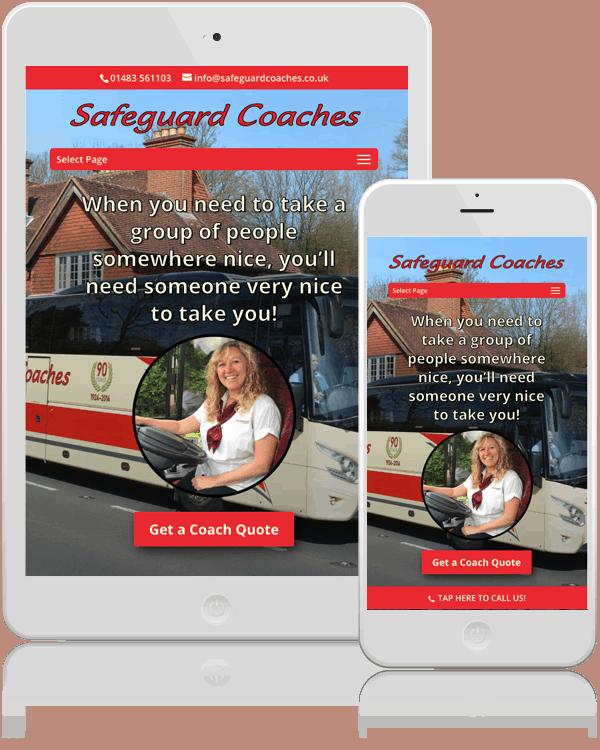 Safeguard Coaches Mobile Web Design