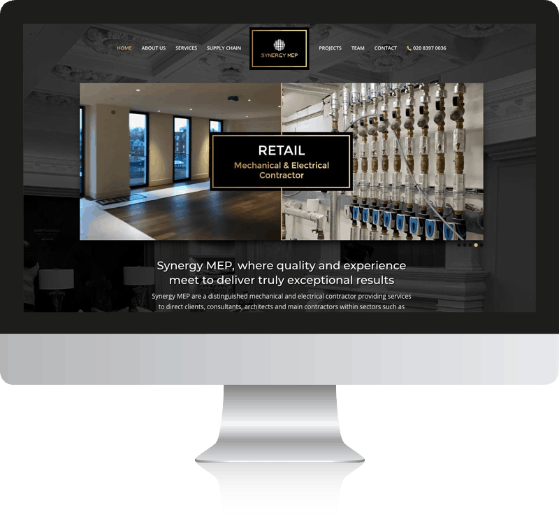 Synergy MEP Website Design