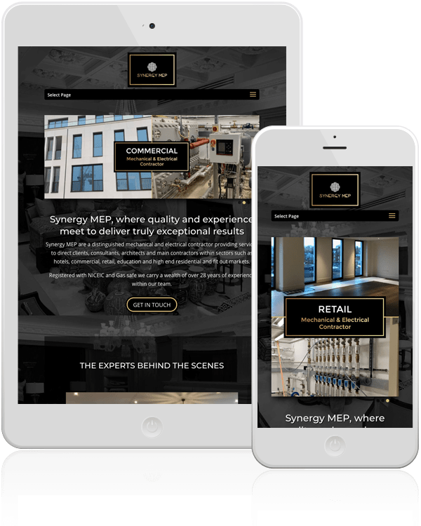 Synergy MEP Mobile Website Design