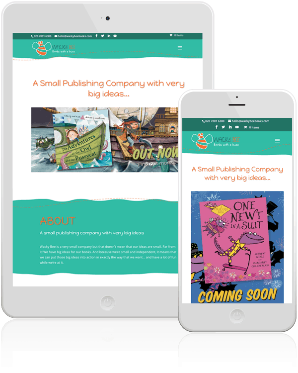 Wacky Bee Books Mobile Web Design