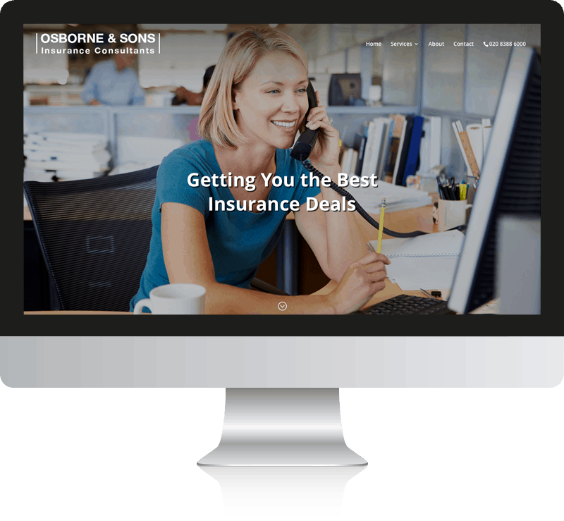 Osborne and Sons Insurance Web Design