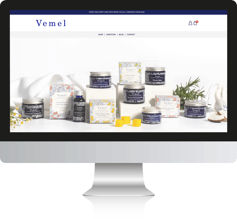 Vemel WordPress and WooCommerce Website Design