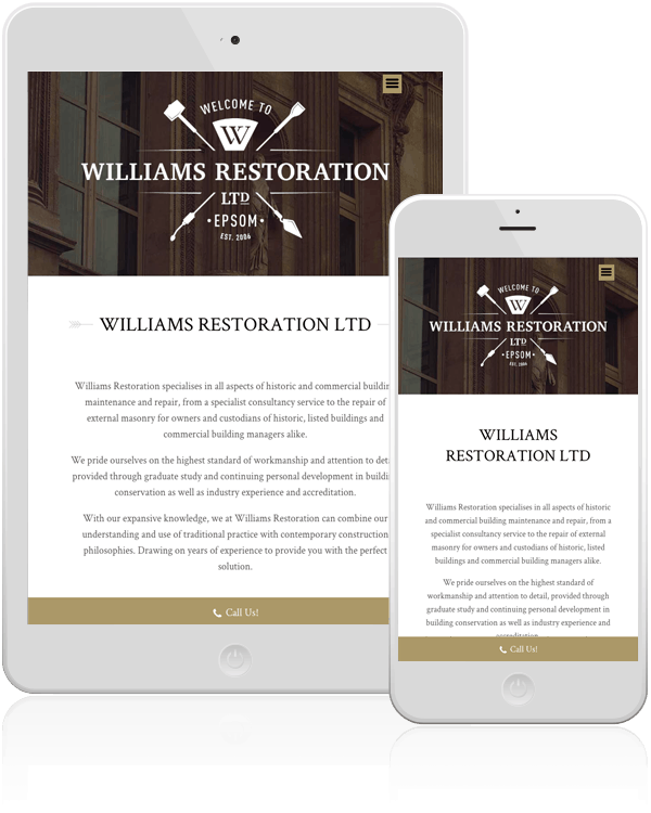 Williams Restoration Responsive Web Design