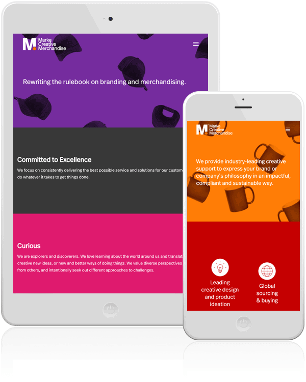 Marke Creative Merchandise Mobile Web Design