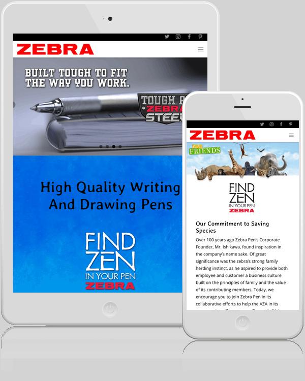 Zebra Pens WordPress Website Design